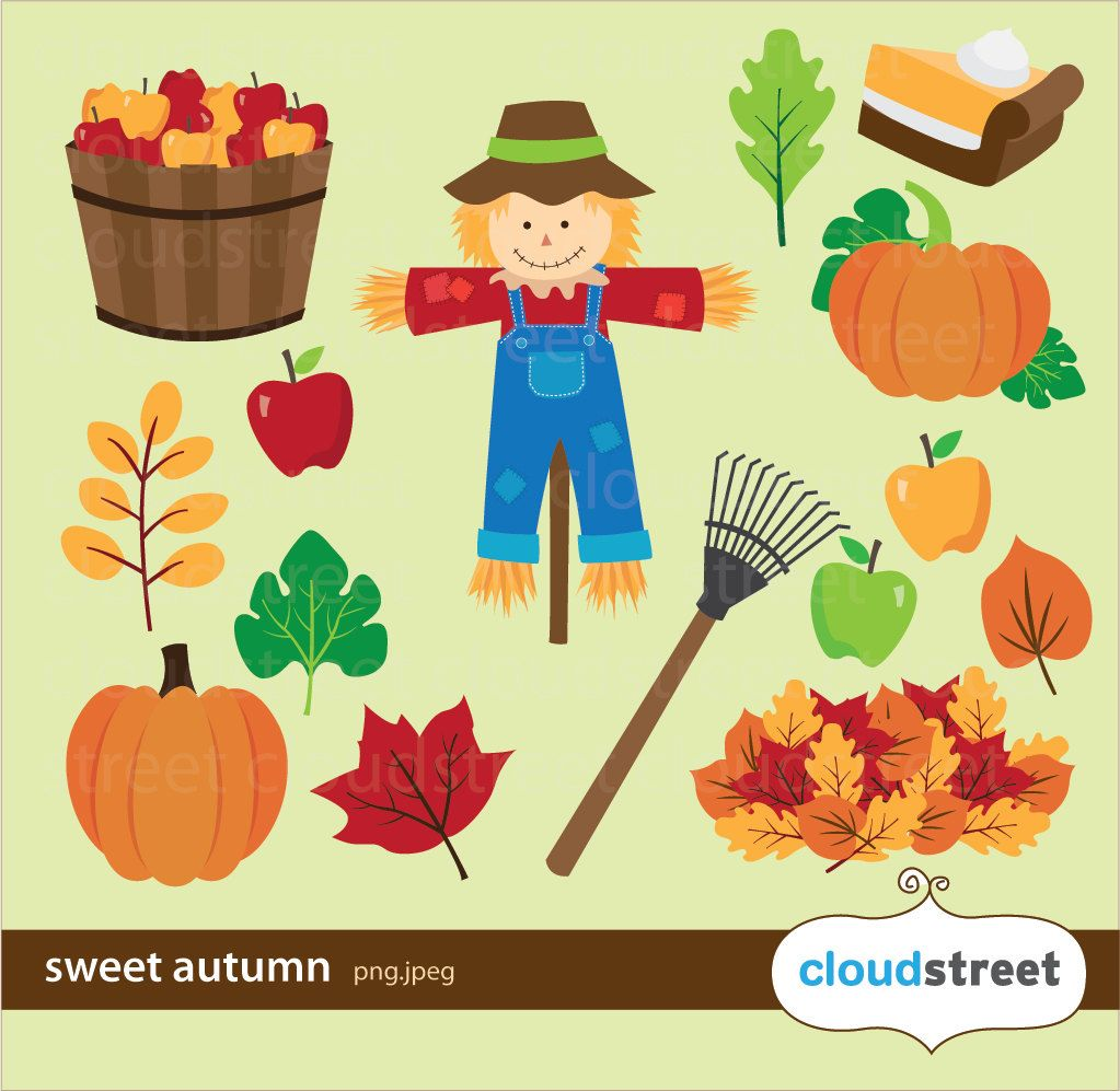 Sweet Autumn Clipart for personal and commercial use ( fall.