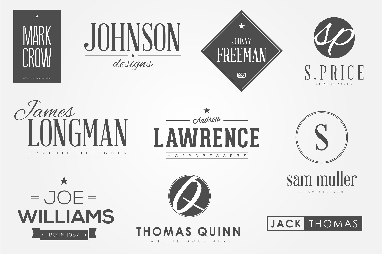 10 Personal Name Logos.