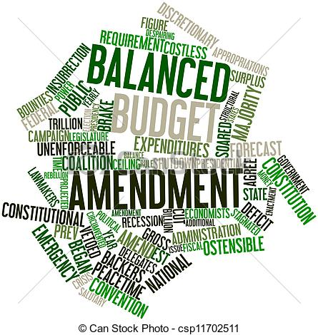 Balanced Budget Clipart.