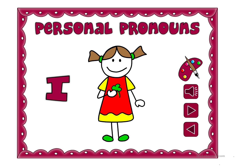 Personal pronouns.