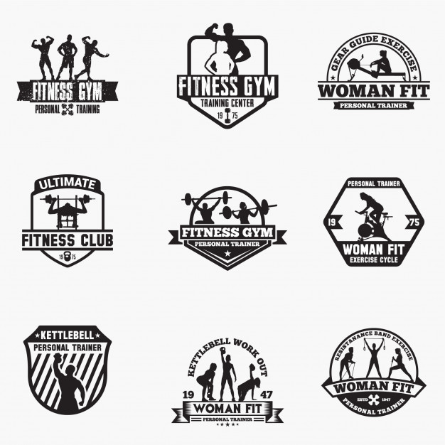 Fitness logo badges Vector.