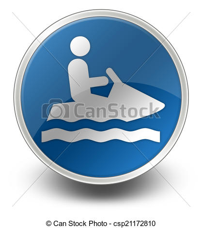 Clipart of Icon, Button, Pictogram Personal Watercraft.