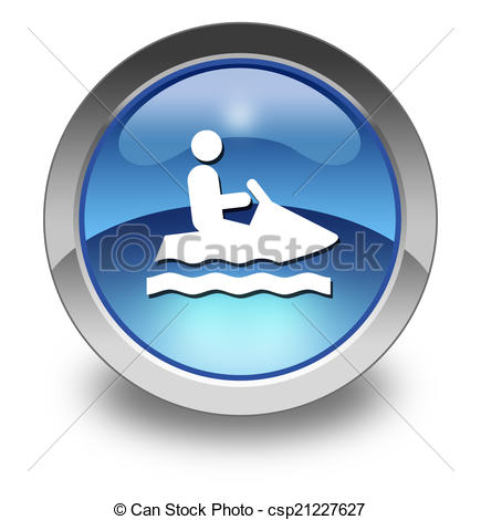 Clip Art of Icon, Button, Pictogram Personal Watercraft.