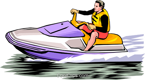 Person on personal watercraft Royalty Free Vector Clip Art.