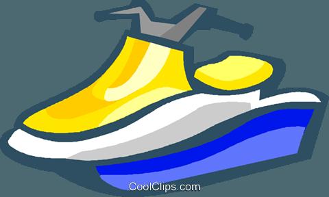 sea doo Royalty Free Vector Clip Art illustration.