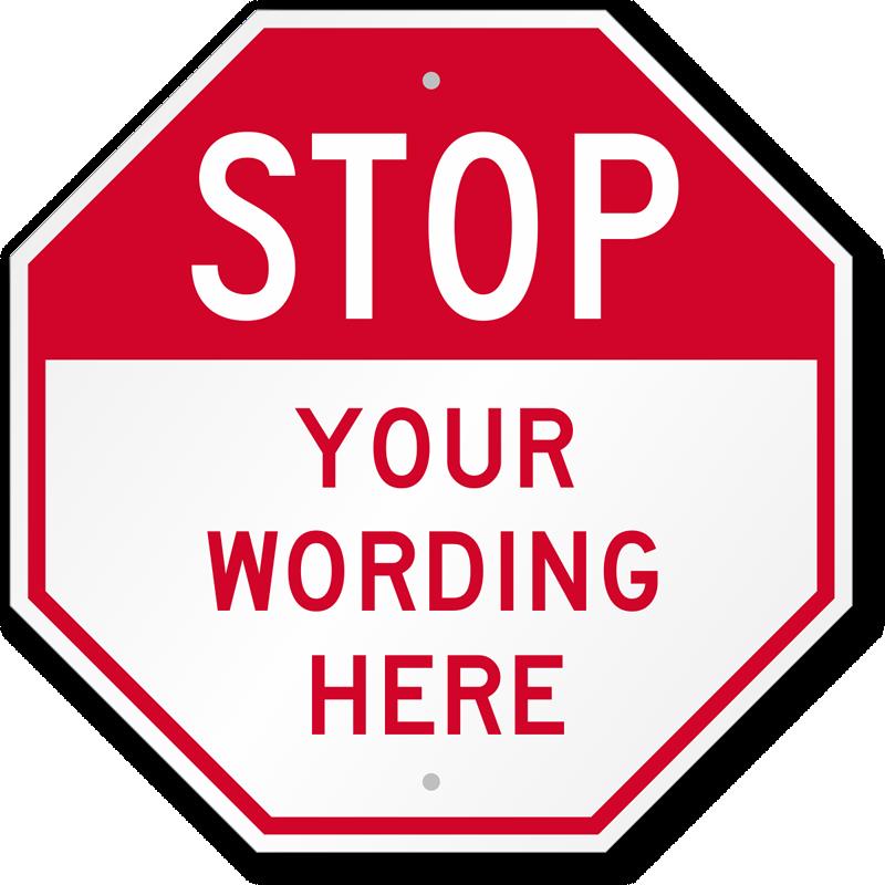 Stop sign shape clip art.