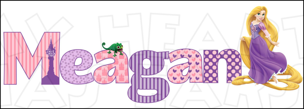 Disney Tangled Rapunzel Custom Name PERSONALIZED digital.