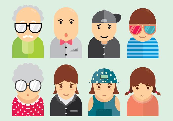 Set Of Personas Icons.