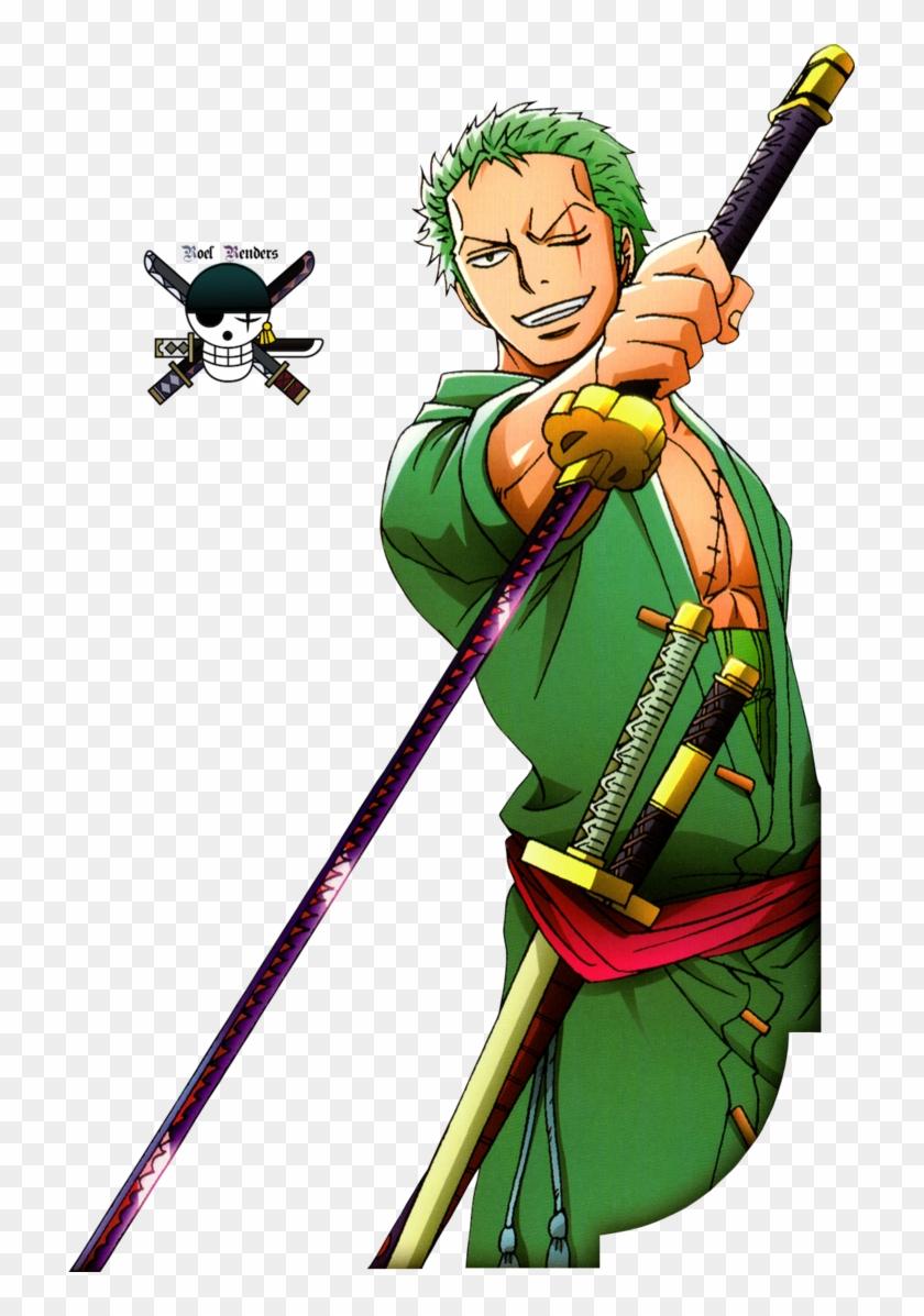 Zoro One Piece Render, HD Png Download (#419415).