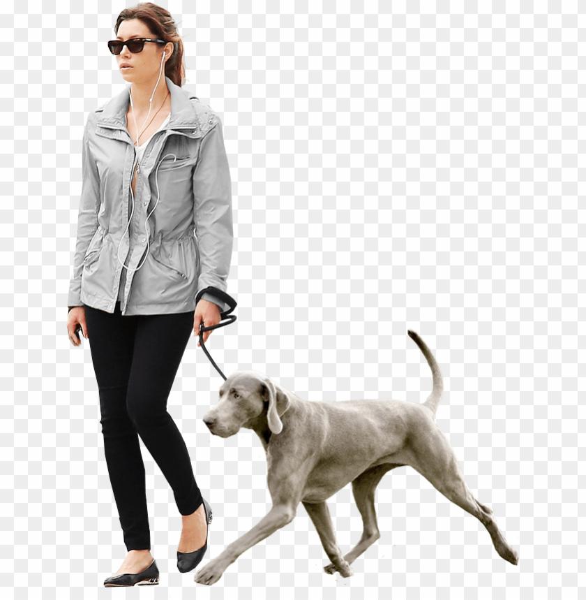 woman dog gray.