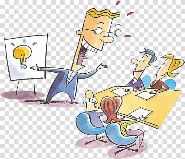 Presentation Persuasion , Boss meeting transparent.