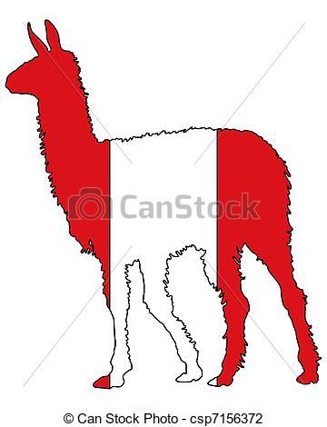 Vector Illustration of Lama Peru csp7109822.