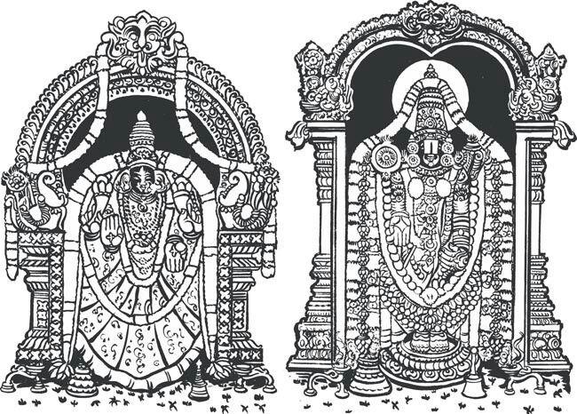 Sketch of Lord Perumal..