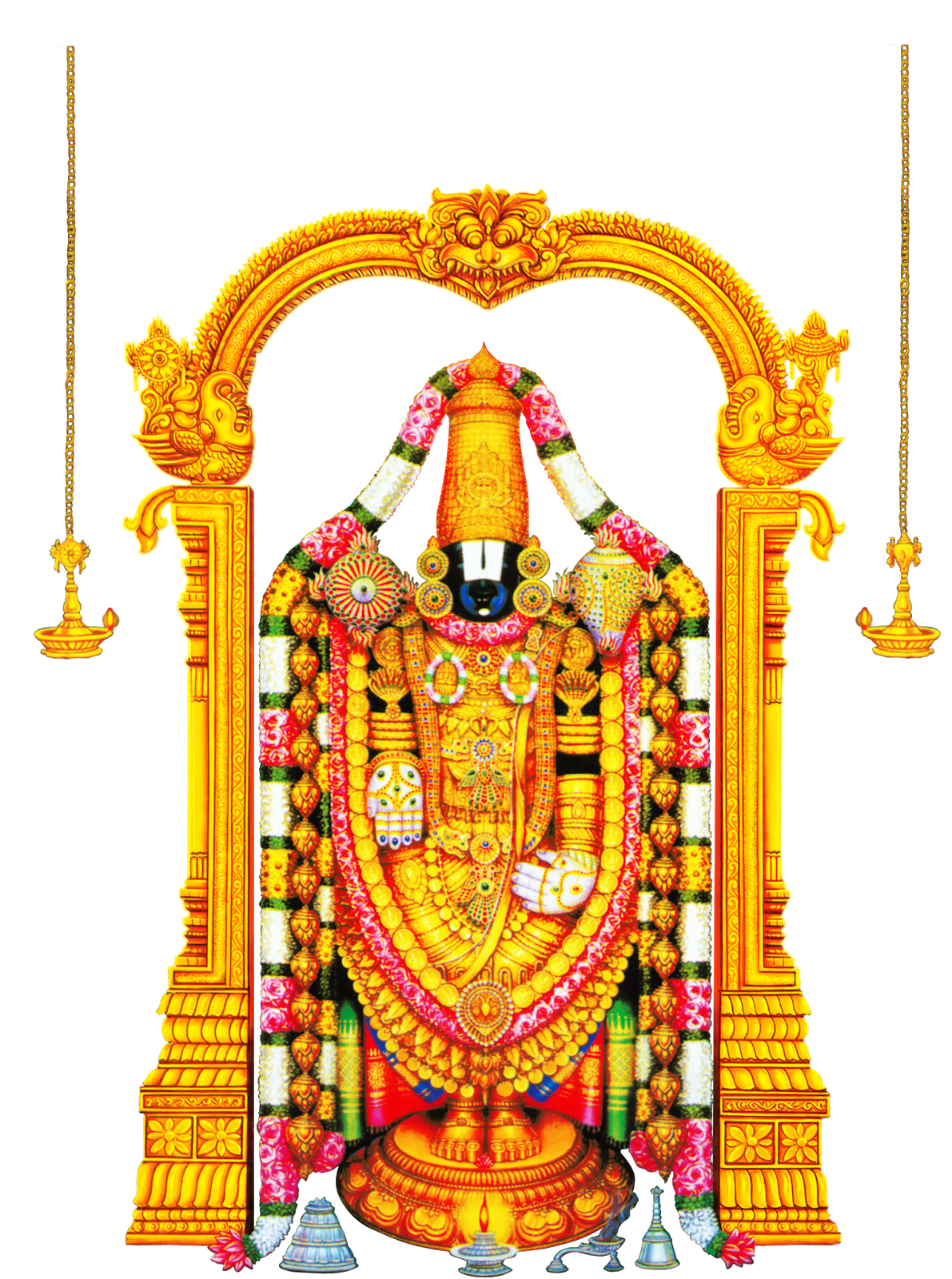 GODS CLIPARTS AND IMAGES: Lord Tirupati Venkateswara and.
