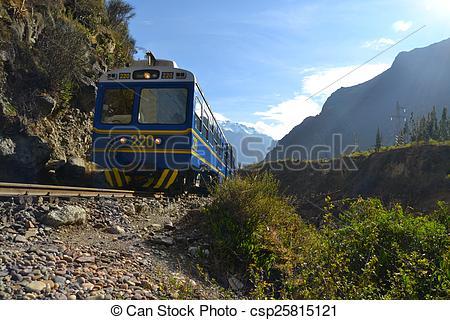 Stock Photo of Peru Rail Train from Cuzco to Machu Picchu.