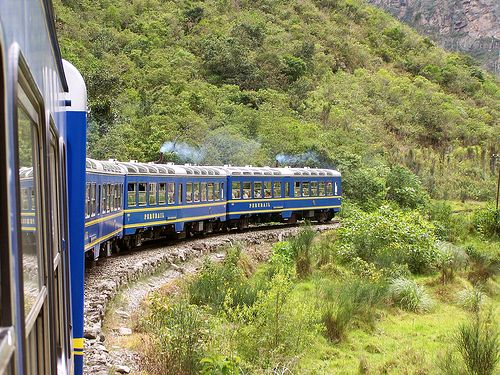 Peru Rail on the way to Machu Picchu, Cusco, Peru.