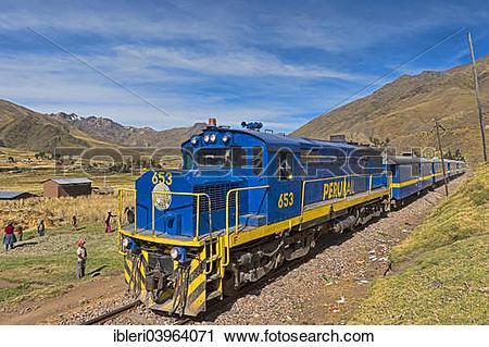 Stock Photography of Peru Rail, near Ocobamba, Cusco, Peru, South.