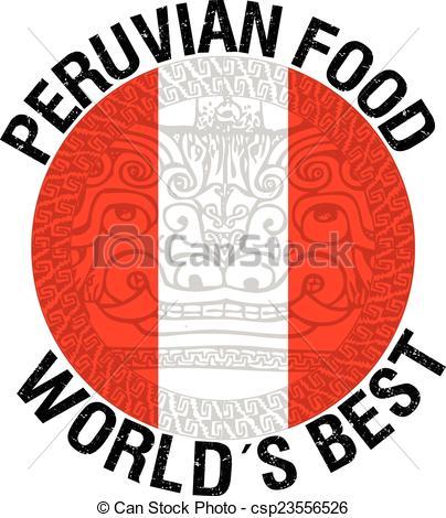 Vector Illustration of Peruvian food illustration csp23556526.