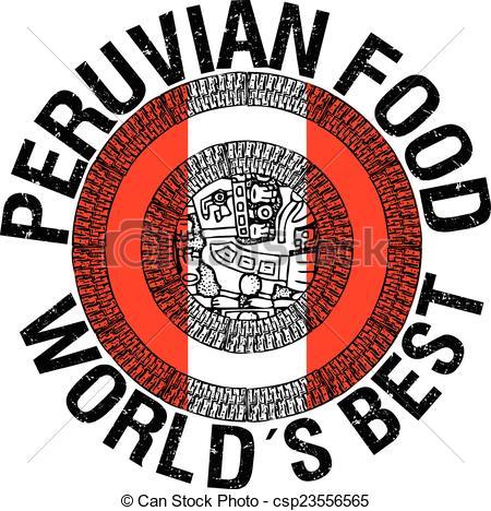 Clip Art Vector of Peruvian food illustration csp23556565.
