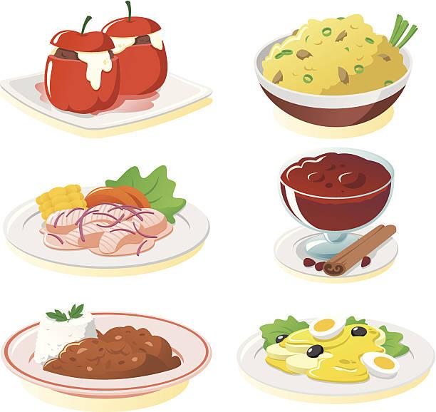 Peruvian Food Clip Art, Vector Images & Illustrations.