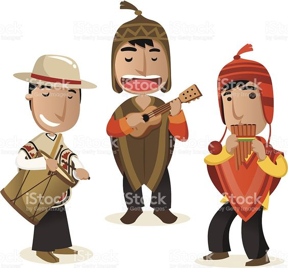 Cartoon Of Peruvian Clothing Clip Art, Vector Images.