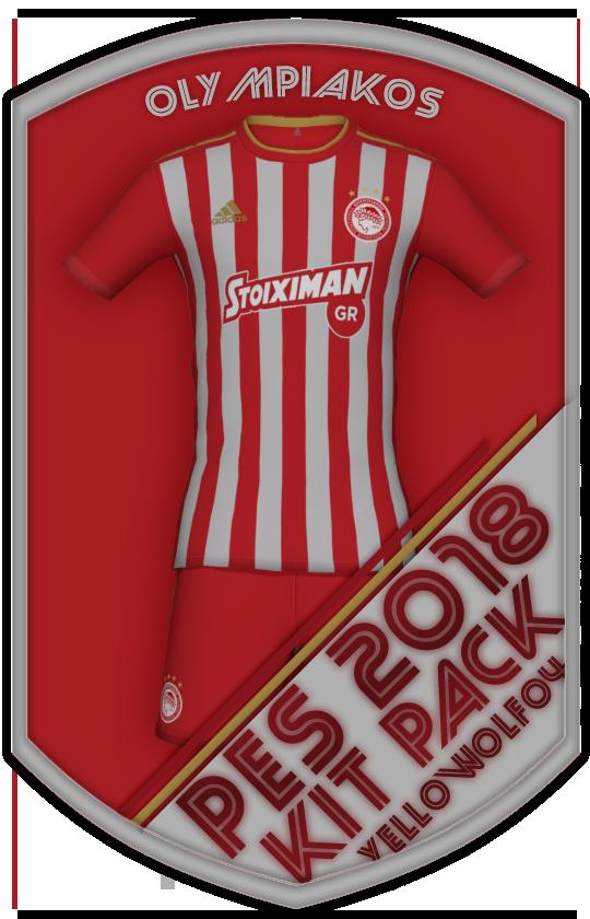 Olympiakos Kit Pack 2019 For PES 2018.