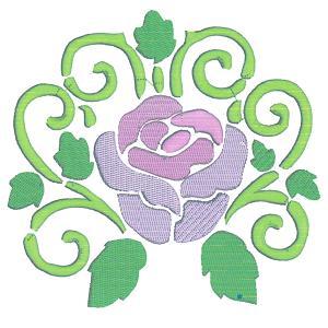 Stencil Roses Machine Embroidery Design Set.