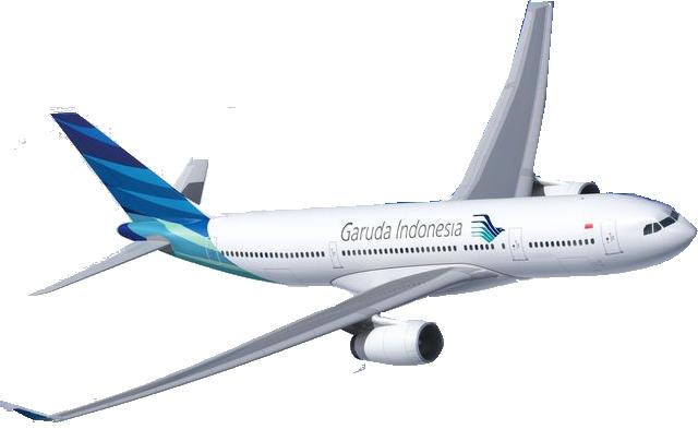 Pesawat Garuda Indonesia Png Vector, Clipart, PSD.