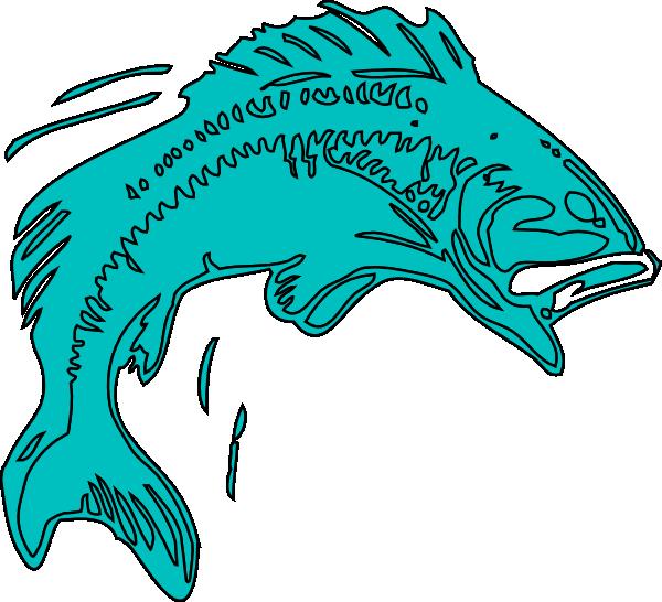 El Pescado Azul Clip Art at Clker.com.