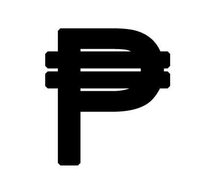 Clipart peso sign.