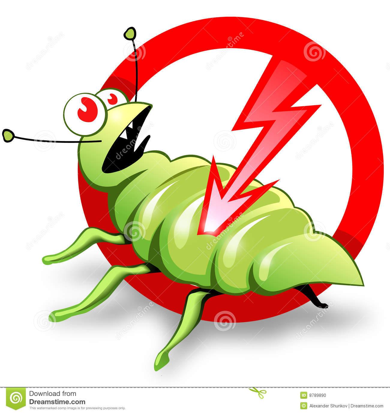 Pest control man clipart.