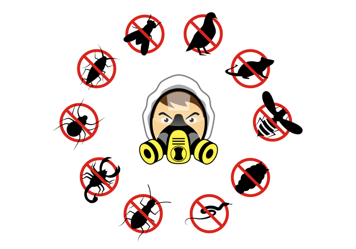 Pest Control Free Vector Art.