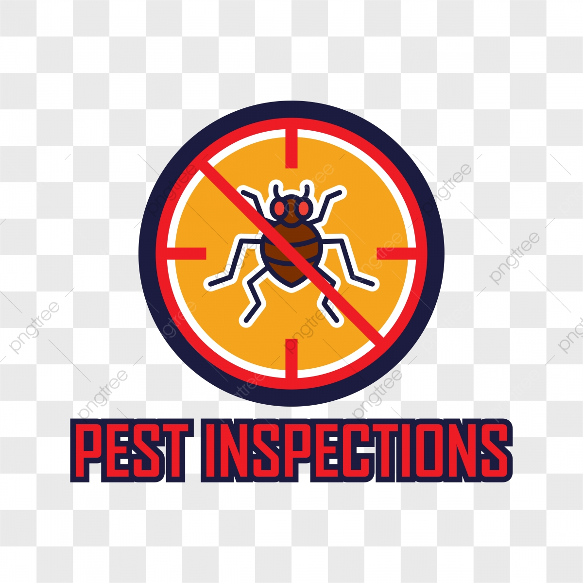 Pest Control Logo Isolated On Transparent Background, Pest.