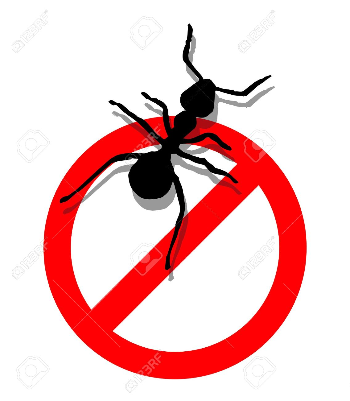 Illustration Of Forbidden To Enter Ants. Royalty Free Cliparts.