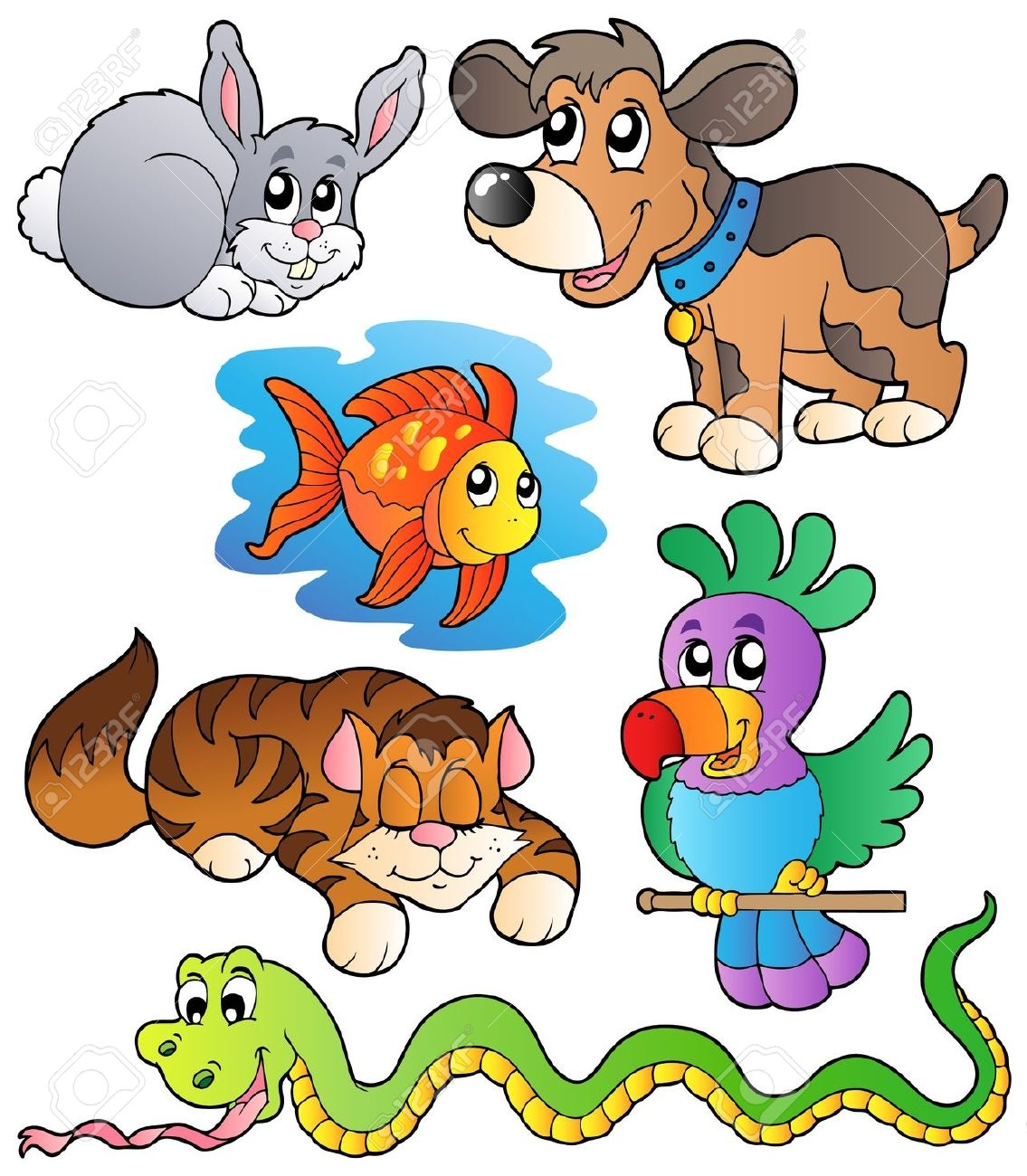Pet Animals Clipart For Kids.