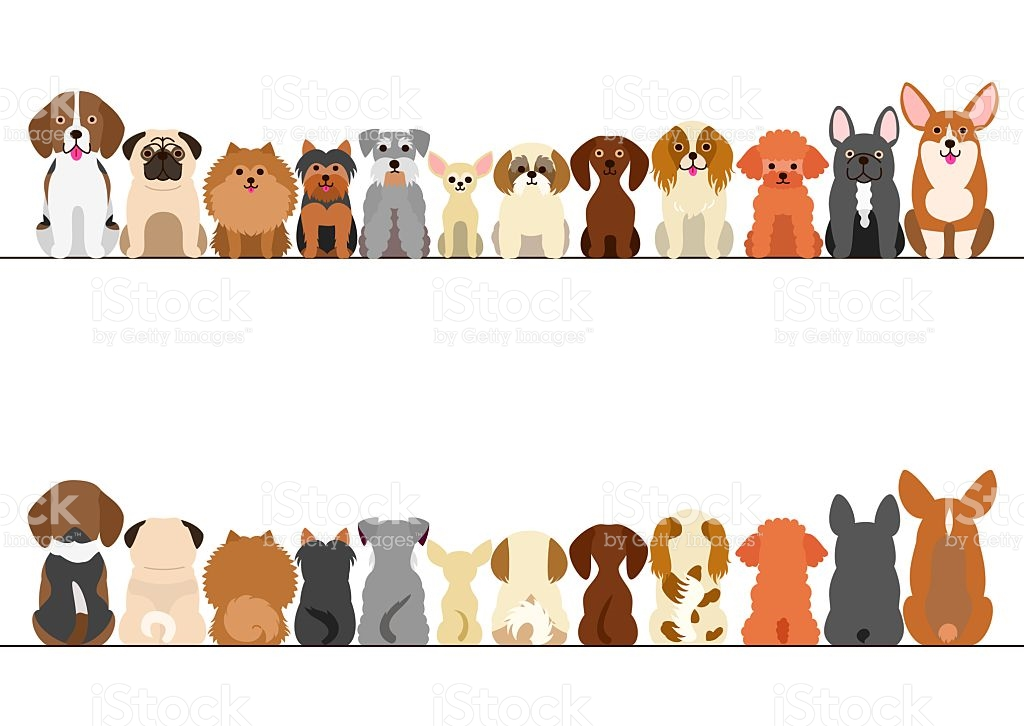 Dog clipart border 6 » Clipart Station.