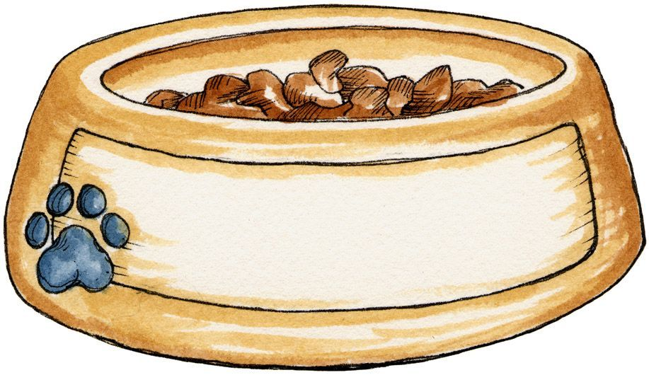 Dog bowl #dogs #clipart #patterns #scrapbook.