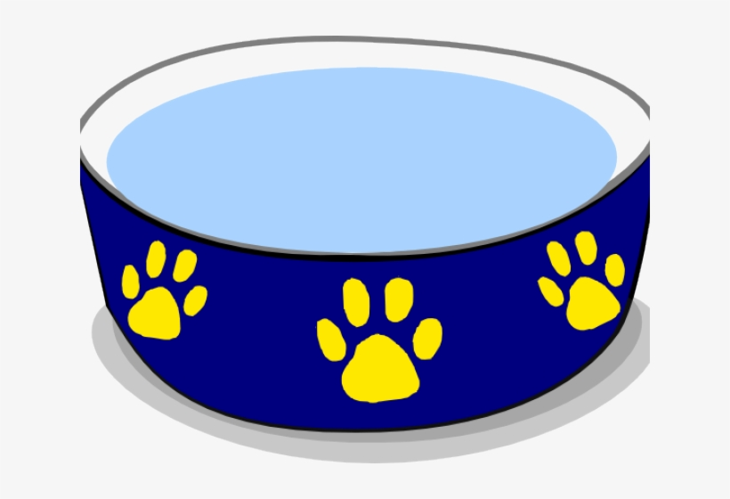 Banner Royalty Free Stock Dog Bowls Clipart.