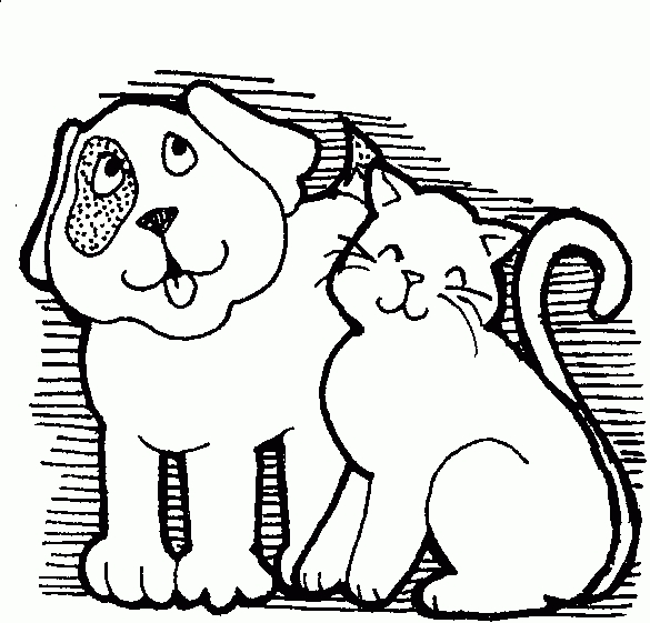 Pets Clipart Black And White.