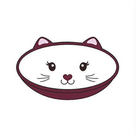 SimplyShe simplyCAT Pet Food Bowl.