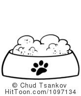 Clip Art Pet Food Bowls Clipart.