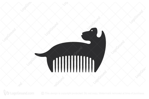 Exclusive Logo 135169, Barber Dog Logo.