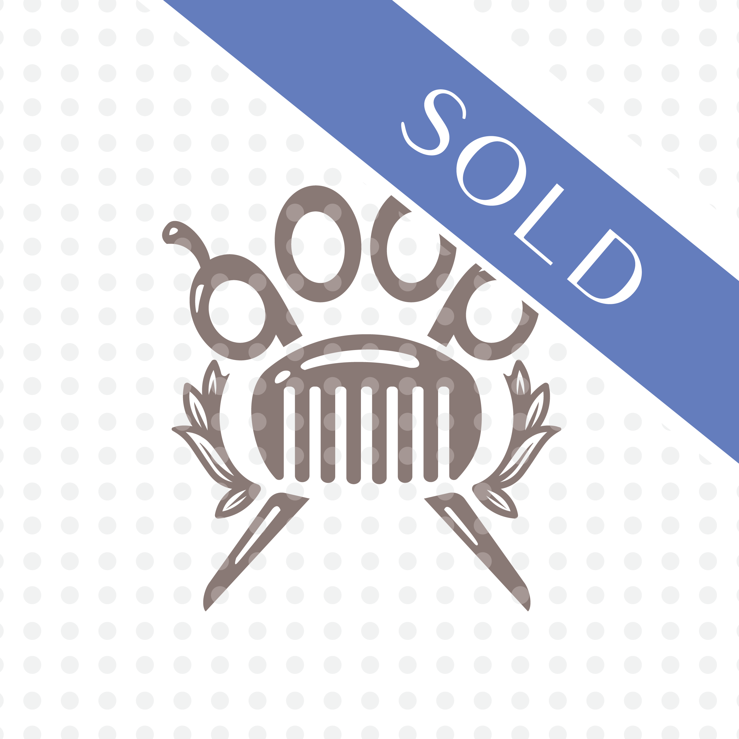 SOLD—Dog Grooming Logo Design.