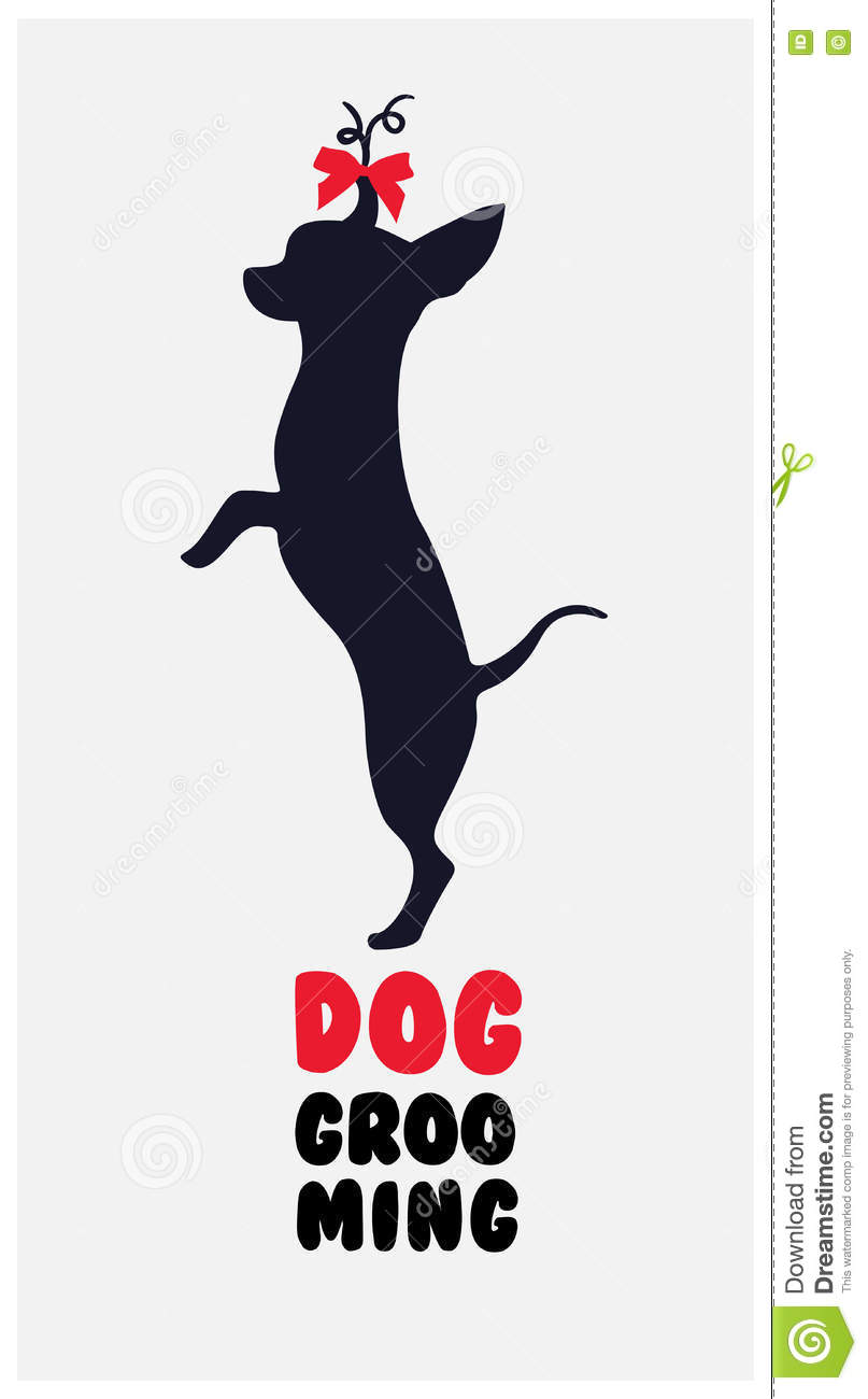 Logo For Dog Hair Salon. Dog Beauty Salon Logo. Pet Grooming Sal.
