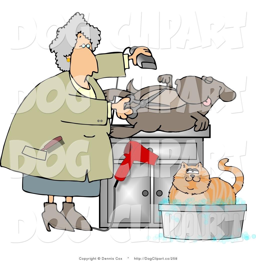 Royalty Free Pet Grooming Stock Dog Designs.