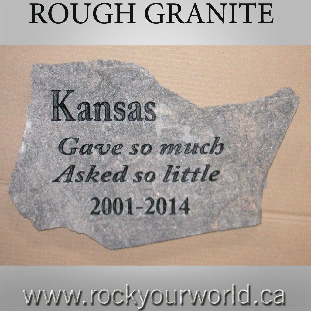 Pet Memorial Stone.