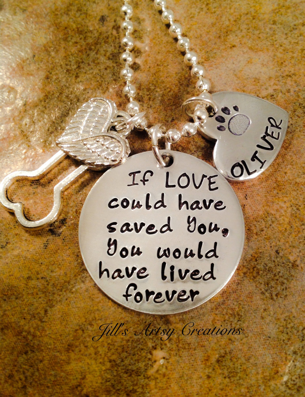 Pet loss necklace.