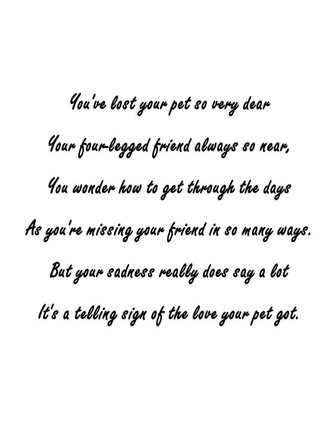 Pet Loss Clipart.