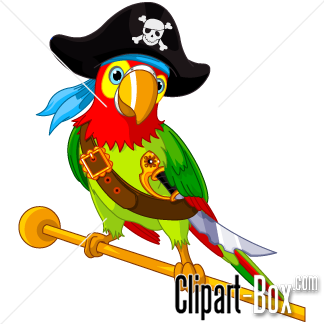 CLIPART PIRATE PARROT.