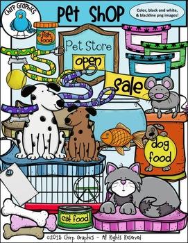 Pet Shop Clip Art Set.